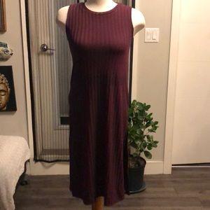 NWT Burgundy long side slit sweater